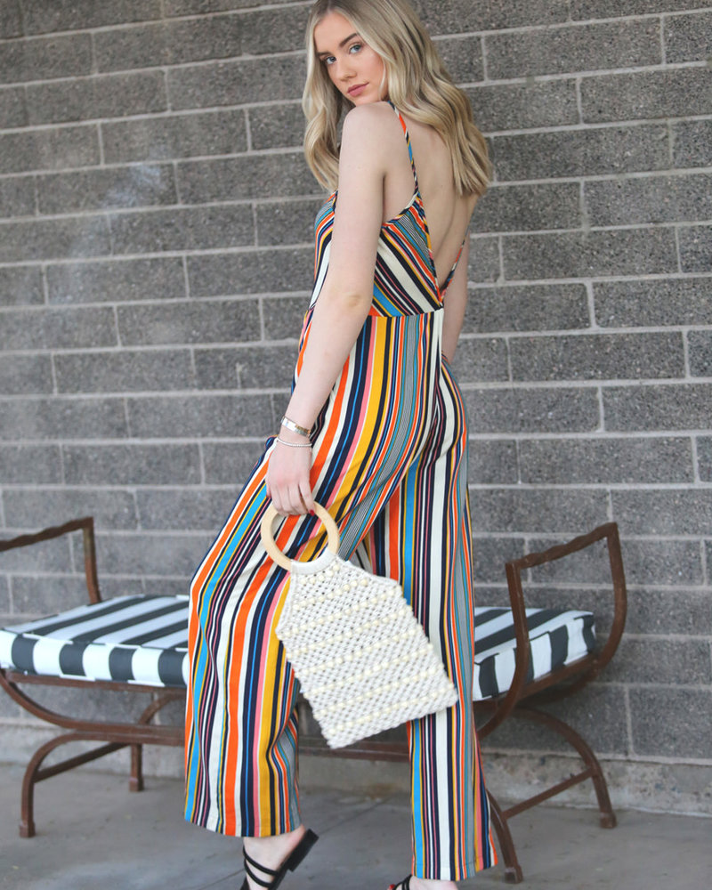 Angie Square Neck Jumpsuit With Pockets (B5737)
