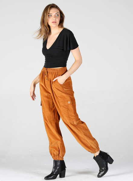 Angie Pant With Side Pocket And Elastic Ankle Cuff (25R36)