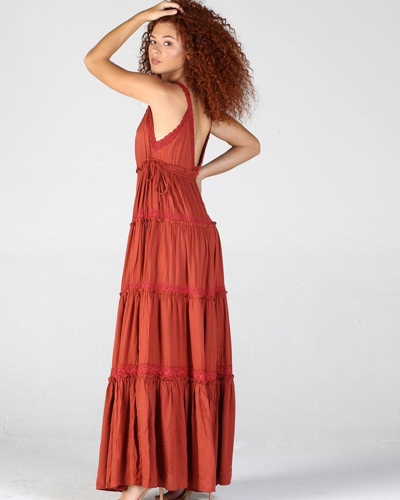 Angie V Neck Maxi Dress (B4WW2)