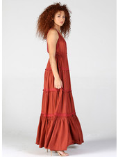 Angie V Neck Maxi Dress (B4WW2)