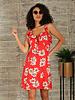 Angie Moss Crepe Ruffle Baby-Doll Dress (F4D41)