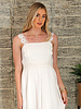 Angie White Lace Straps Tank Dress (X4X13)