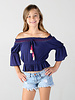 Angie Girl Angie Girl Off The Shoulder Top With Tassels (K2149)