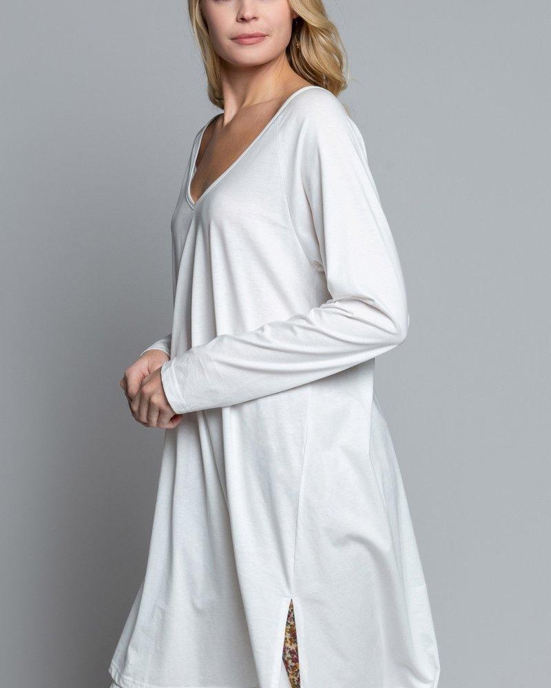 POL Low V-Neck Long Sleeve Knit Tunic (SMT1348)