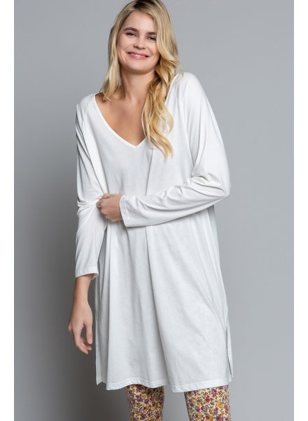 POL Low V-Neck Long Sleeve Knit Tunic (SMT1348)