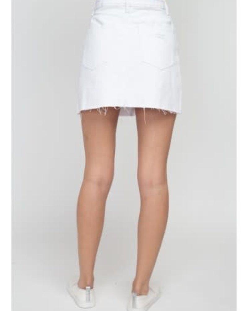 Signature 8 Destroyed A-line Denim Skirt (S7424W)