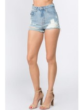 Signature 8 Worn and Torn High Rise Denim (S8355E)