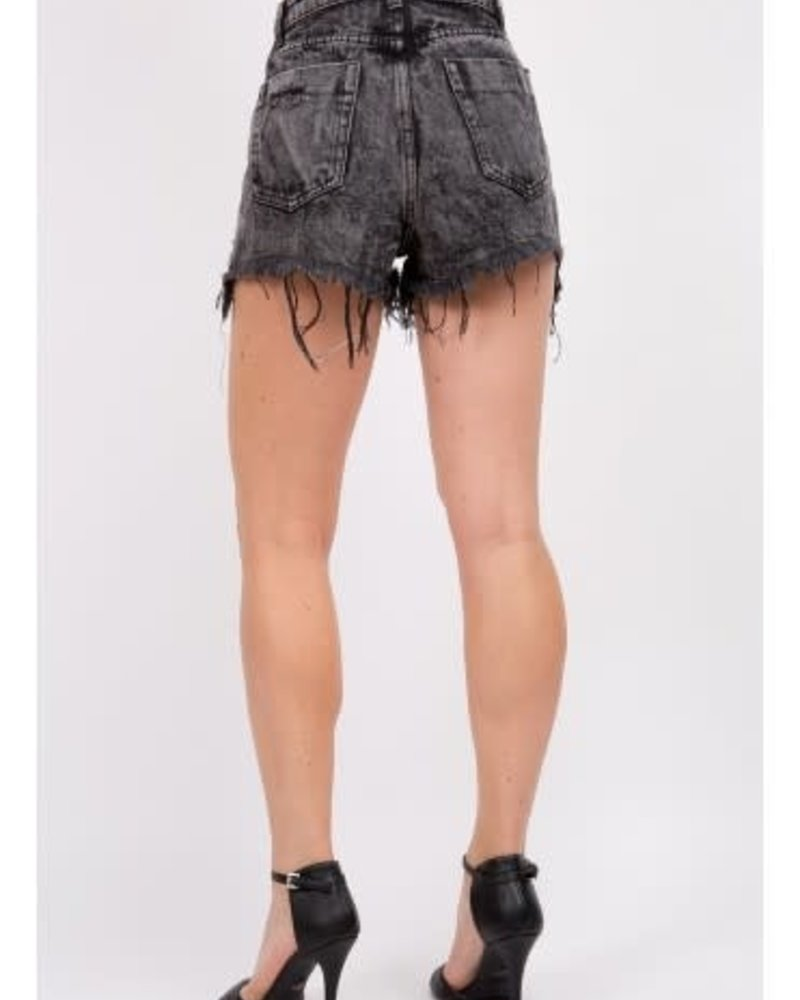 Signature 8 Destroyed High Rise Denim Shorts (S8745)