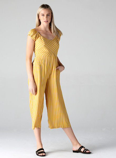 Angie Striped Jumpsuit (Q5U30)