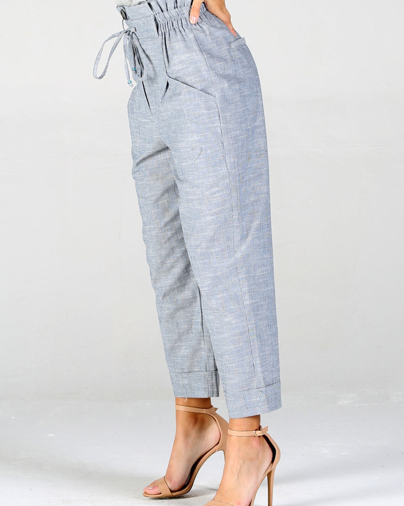 Angie Front Pocket Cuffed Pant With Tie (25R50)