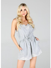 Angie Woven Romper (Q5R87)