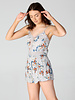 Angie Romper With Lace Inserts (B5618)
