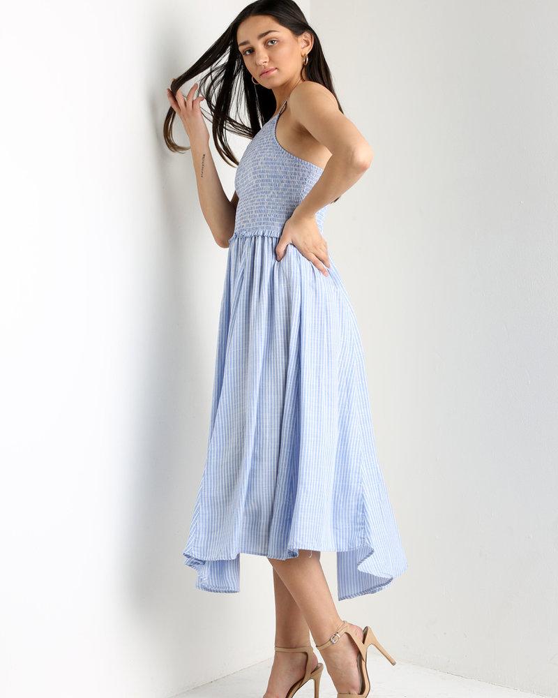 Angie Smocked Bodice Maxi Dress (C4015)