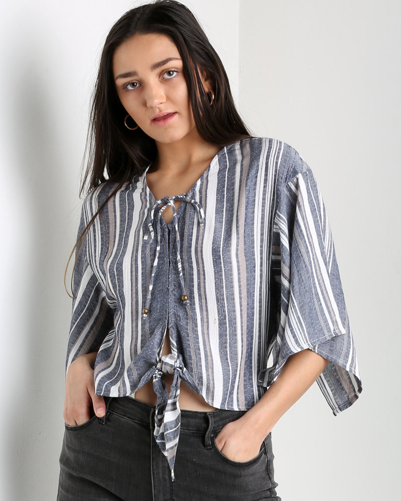 Angie Tie Front Top  (F2042)