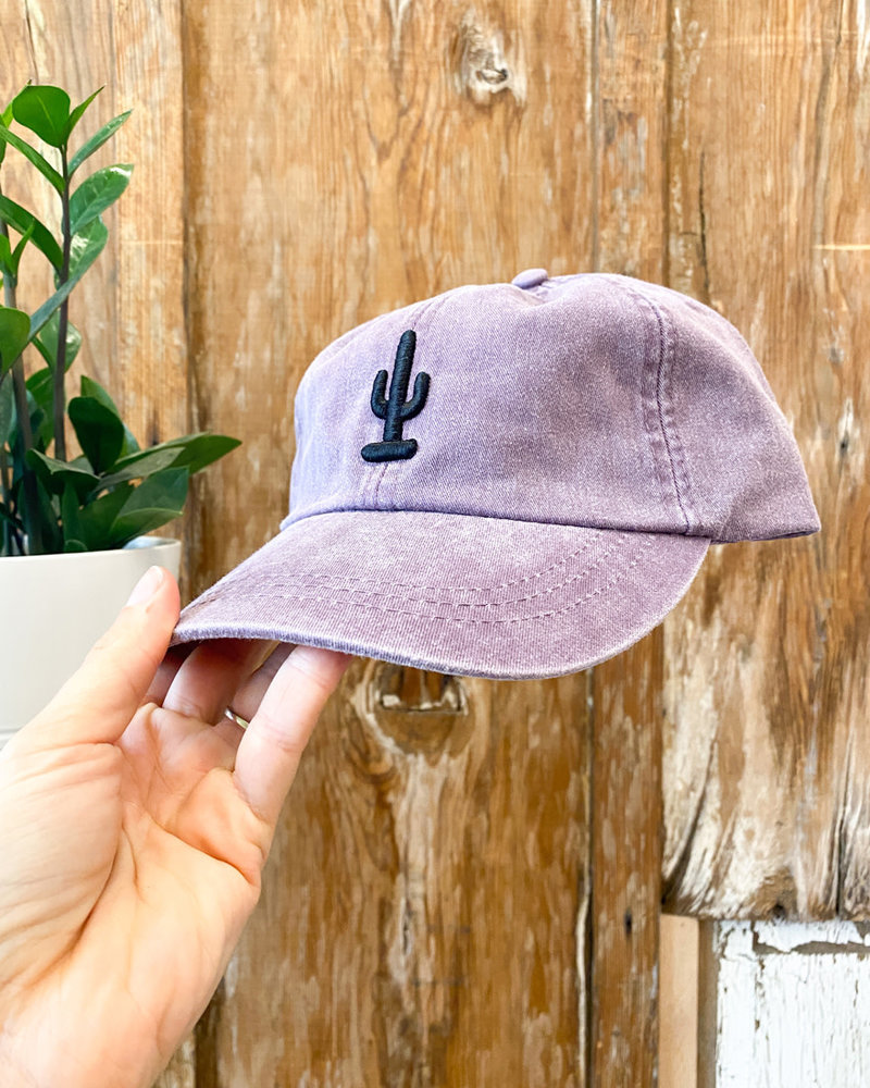 Gabacho Embroidered Saguaro Pigment Dyed Dad Hats