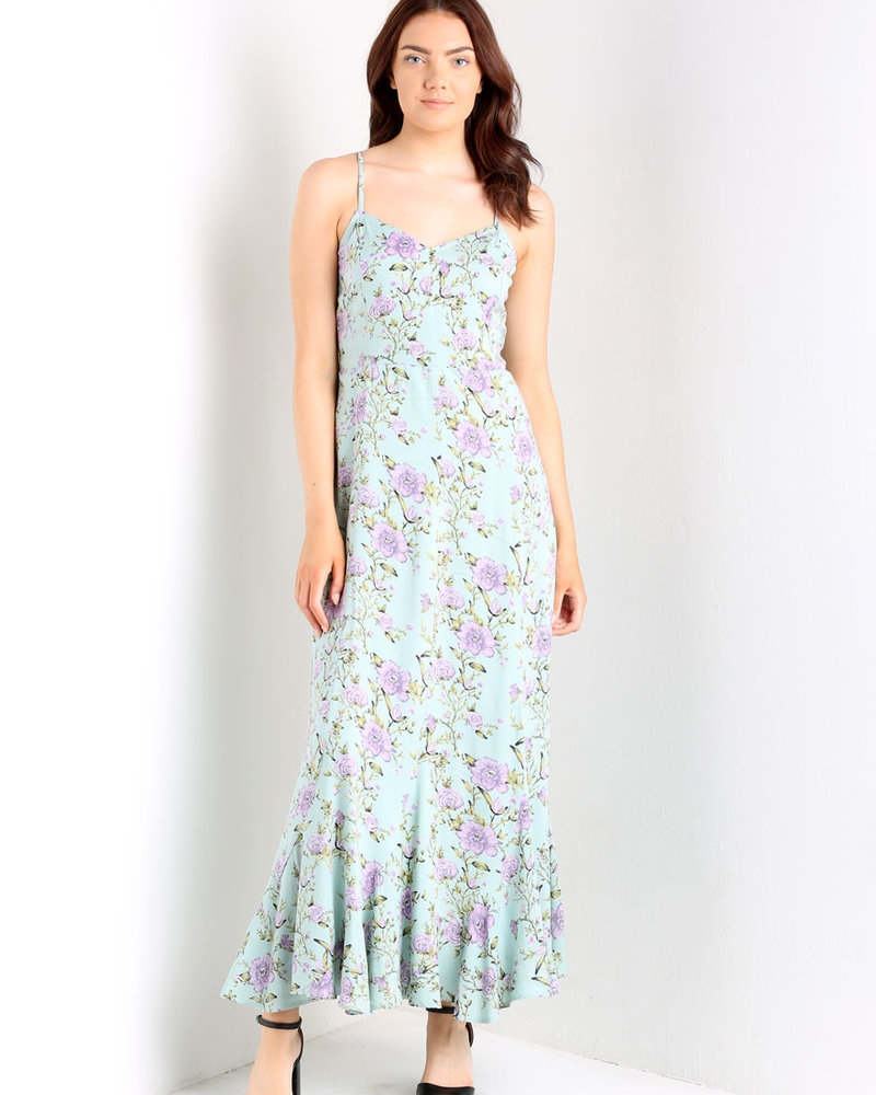 Angie Fitted Maxi Dress (C4094)