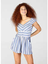 Angie Cap Sleeve Romper with Pockets (Q5V69)