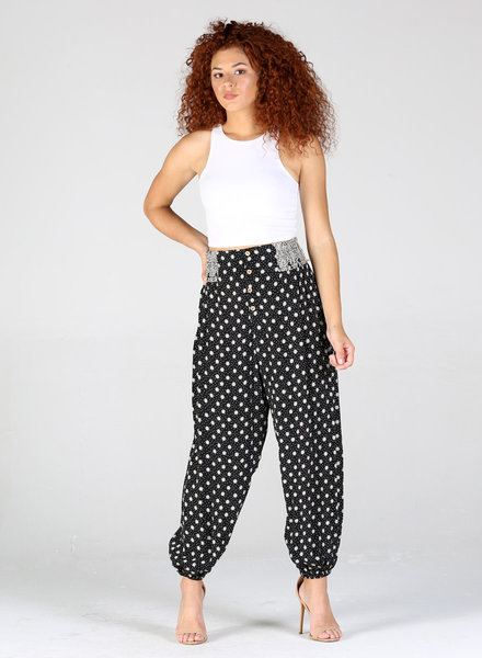 Angie Smocked Waist Jogger Pant (25R58)