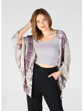 Angie Short Sleeve Printed Kimono (F2144)