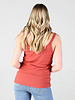 Angie Lace Trim Rib Knit Tank With Buttons (X2AG9)