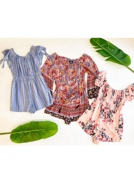 Summer Sippin, Larges Romper Set