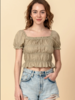 Favlux Favlux Peasent Crop Top With Pleating Detail (FL20F719)