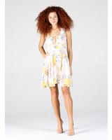Wide Strap Short Dress with Tie (C4056)