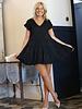 Angie Swiss Dot Tiered Dress (C4022)