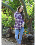 Angie Button Up Long Sleeve Denim Top (B2L29)