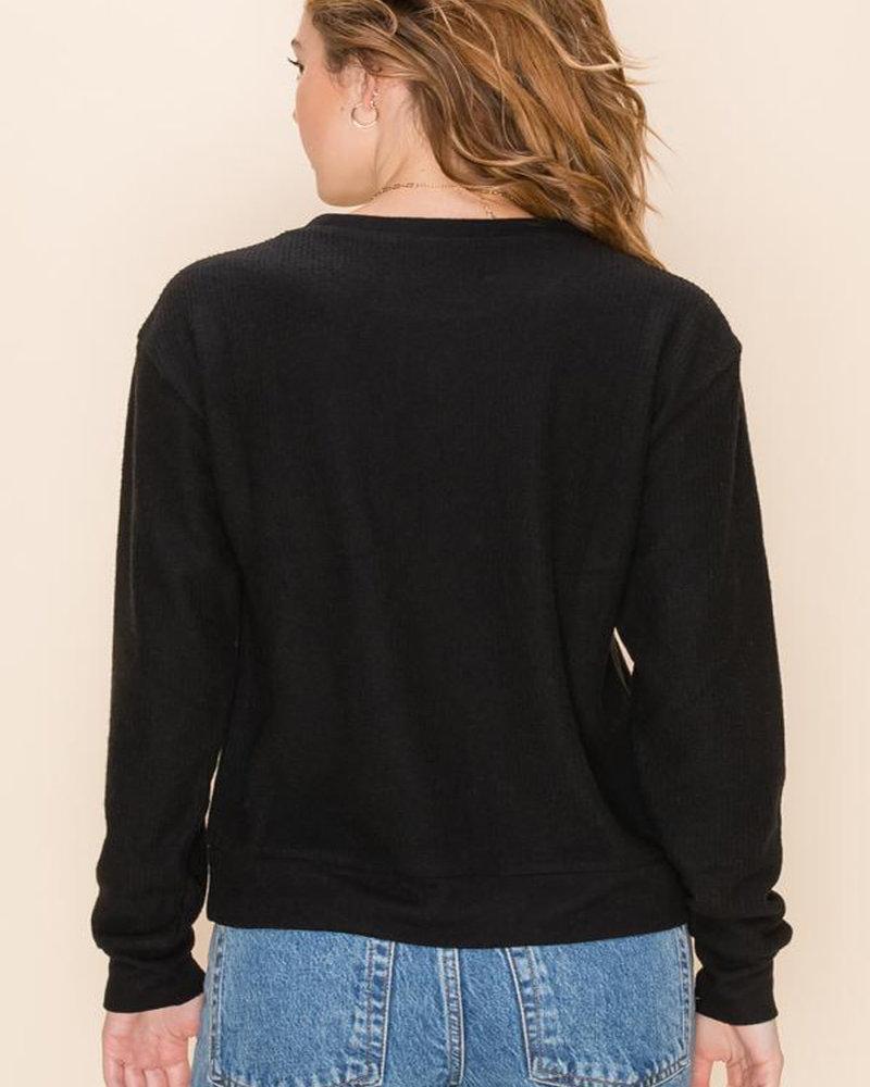 Double Zero Double Zero Cashmere Blend Crew Neck Long Sleeve Sweater (DZ20G991)