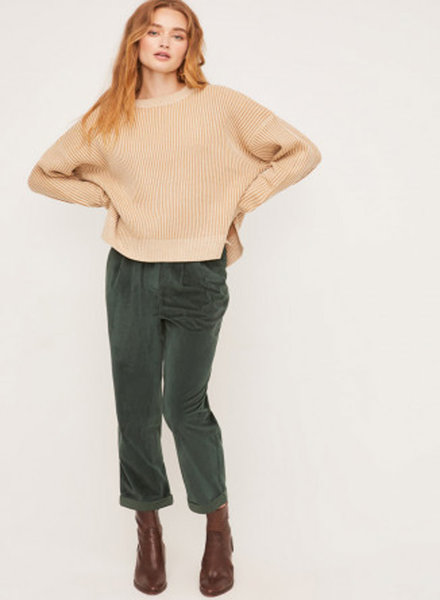 Lush Long Sleeve Ribbed Sweater (LT14960-CL)