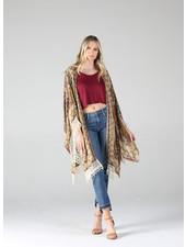 Angie Tie-Dye Lace Trim Kimono (BJ659)