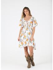 Angie Smocked Flutter Sleeve Dress (C4033)