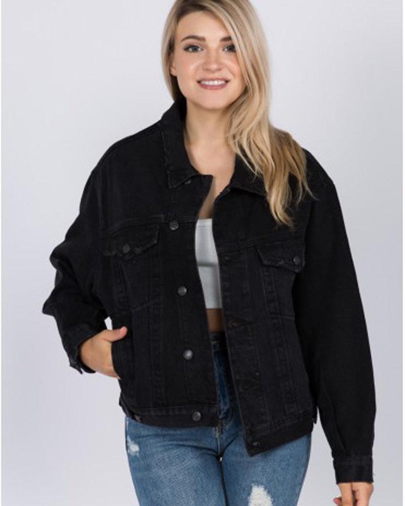 Signature 8 Oversized Denim Jacket (S5645)