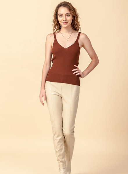 Double Zero Double Zero V Neck Sweater Tank (DZ20H054)
