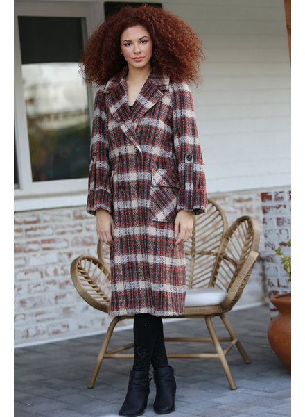 Angie Plaid Trench Coat (SJA59)