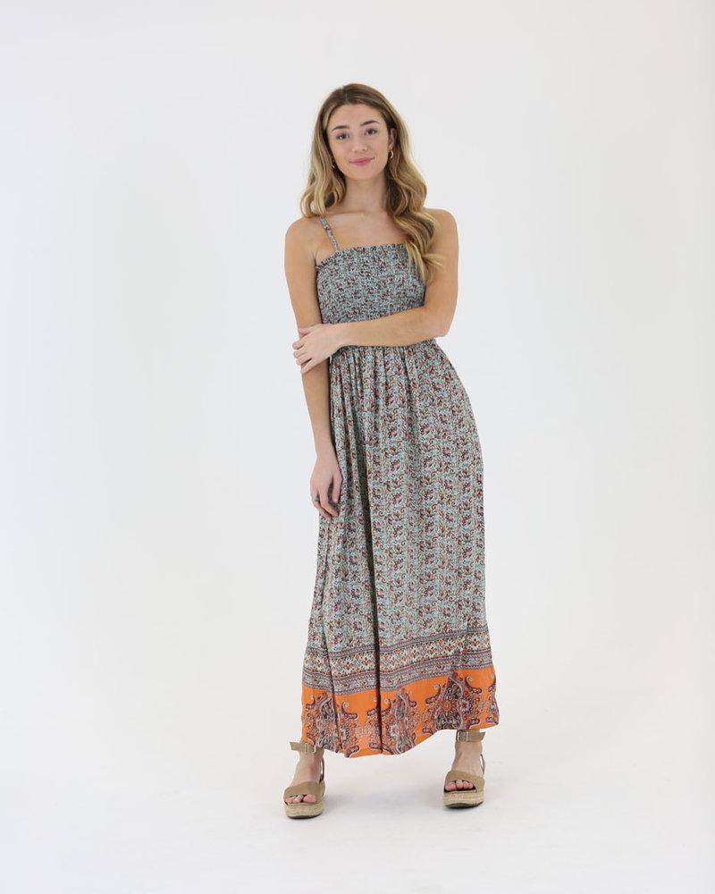 Angie Smocked Maxi Dress (C4093)