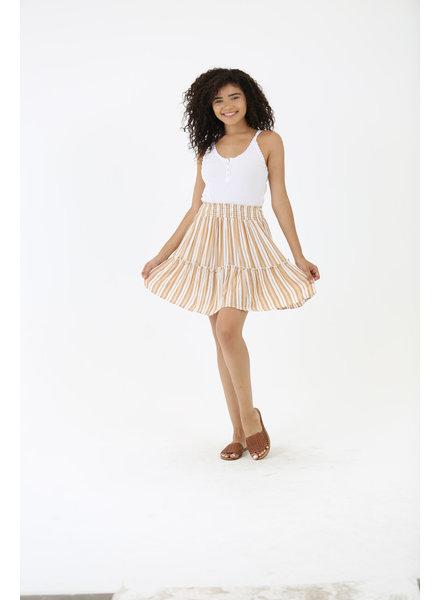 Angie Smocked Waisted Skirt (B6902)