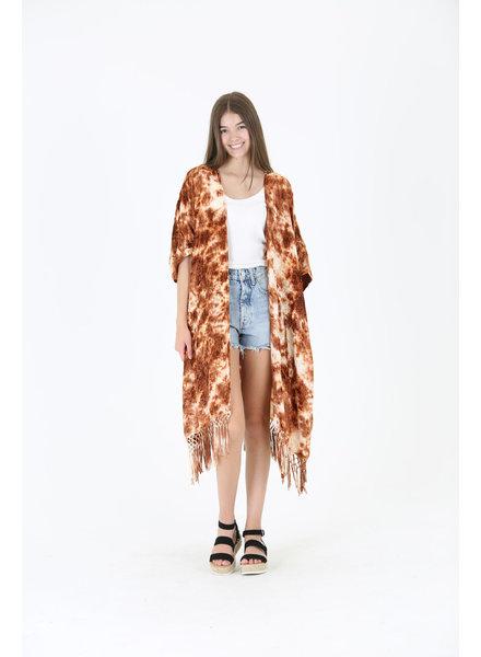 Angie Velvet Tie-Dye Kimono (BJ232)