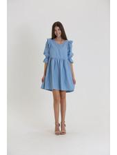 Angie Ruffle Sleeve Dress (C4453)
