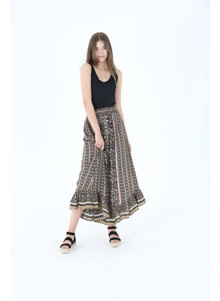 Angie Ruffle Maxi Skirt (B6788)