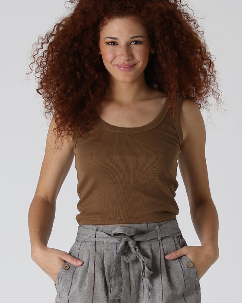 Angie Rib Knit Crop Tank (X2CA5)