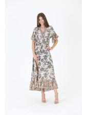 Angie Maxi Dress W/ Criss Cross V-Neck (C4266)