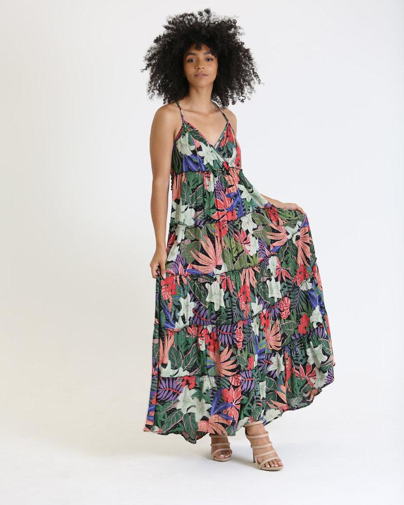 Angie Criss Cross Back Maxi Dress (C4259)