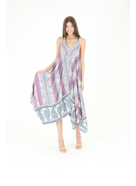 Angie Handkerchief Maxi Dress (C4279)