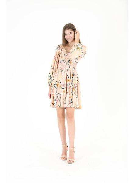Angie Long Sleeve Sweetheart Neck Dress (C4172)