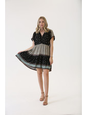 Angie V Neck Tiered Dress (F4F65)