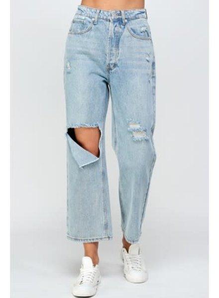Signature 8 Peek Knee Denim Pants (S8945)