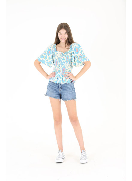 Angie Bell Sleeve Top with Smocking (B2Z05)