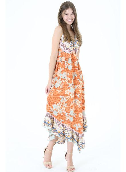 Angie V-Neck Maxi Dress with Smocked Back (C4291)
